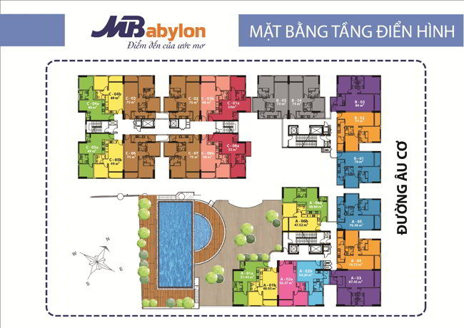 Mặt bằng tầng căn hộ MB Babylon