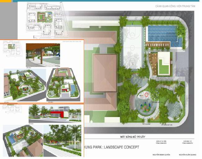 Công viên trung tâm EHome 3 Nam Long