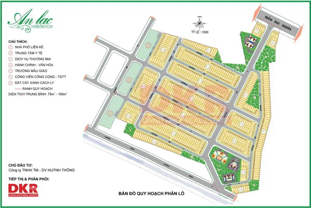 Bản đồ quy hoạch phân lô An Lạc Residence