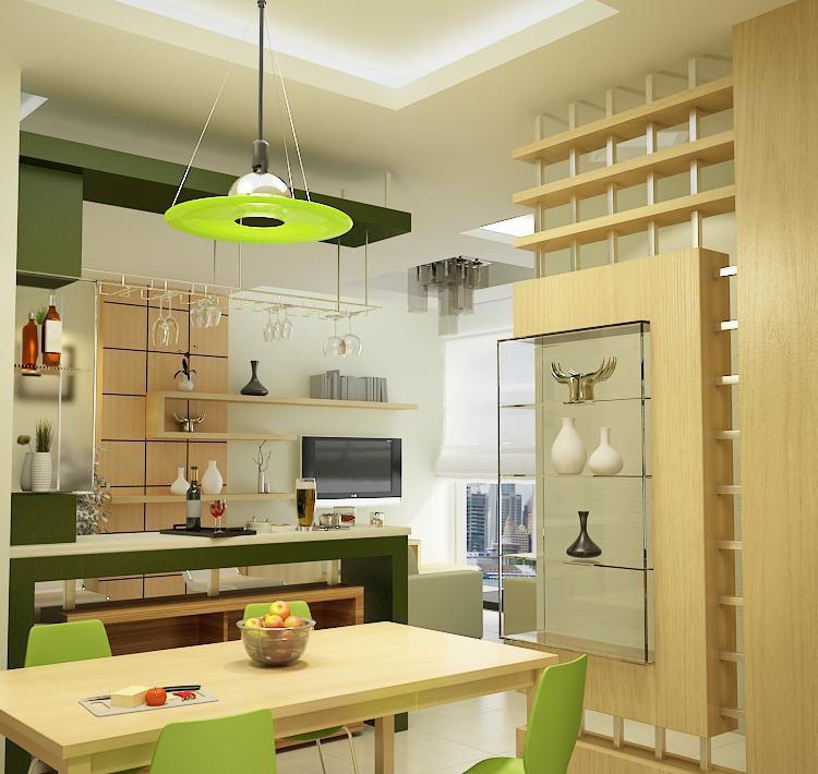 Mẫu phòng bếp căn hộ hoàng anh thanh bình
