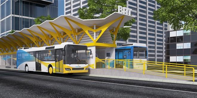 Hình ảnh ý tưởng thiết kế xe buýt và trạm dừng xe buýt Sài Gòn BRT