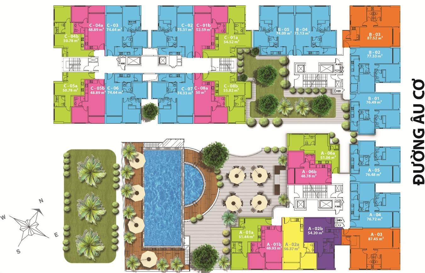 Mặt bằng tổng thể căn hộ MB Babylon