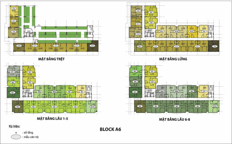 Mặt bằng Block A6