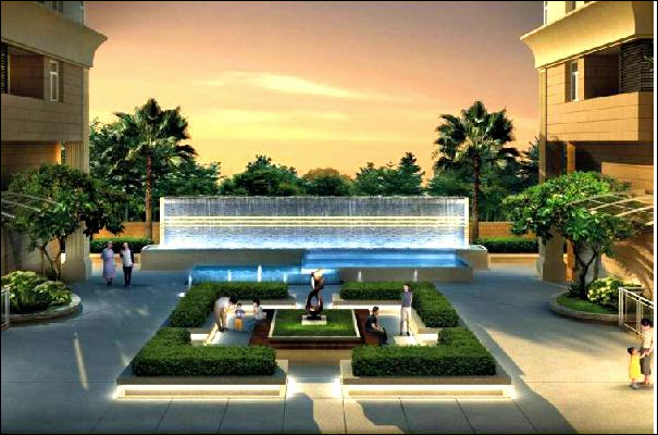 bể bơi và khuôn viên căn hộ Hoàng Kim Thế Gia