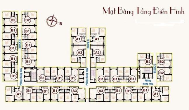 Mặt bằng tầng điển hình căn hộ Tên Lửa