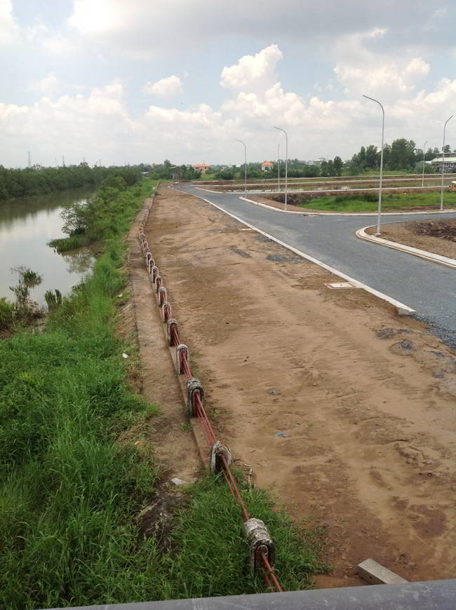 Bờ Kè ven sông dự án Hoàng Anh Minh Tuấn Quận 9