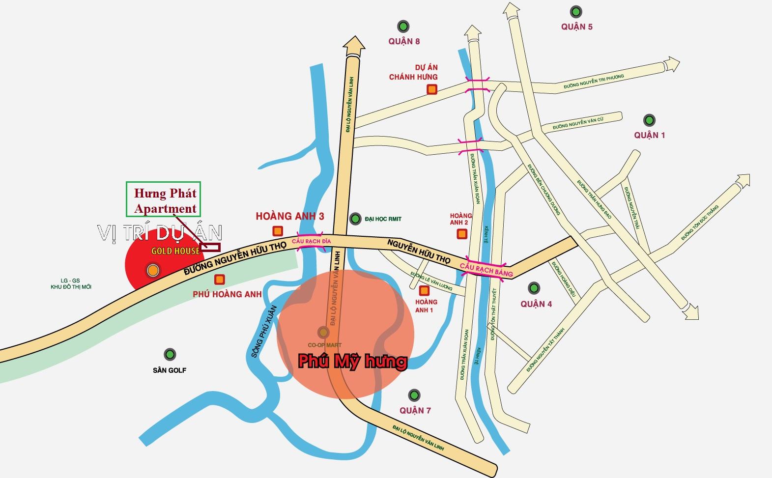 Vị trí căn hộ Hưng Phát