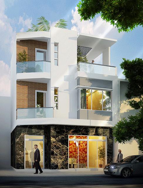 mẫu nhà phố hiện đại