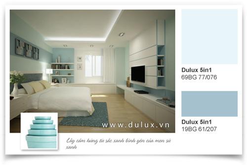 màu sắc phòng ngủ thư giản nhẹ nhàng