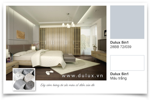 phòng ngủ với màu sắc cổ điển