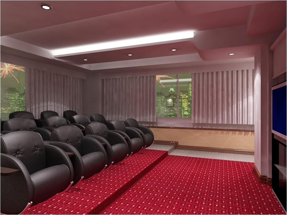 rạp chiếu mini căn hộ Hoàng Kim Thế Gia