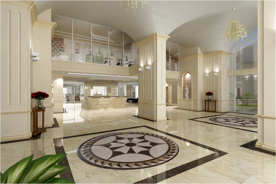Sảnh căn hộ Hoàng Kim