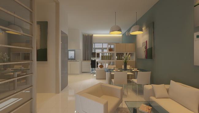 Thiết kế Phòng khách căn hộ EHome 3