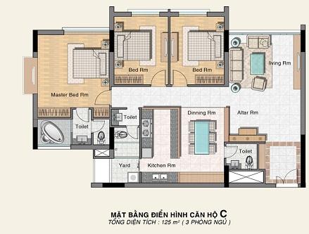 Mẫu thiết kế căn hộ C Phú Hoàng Anh