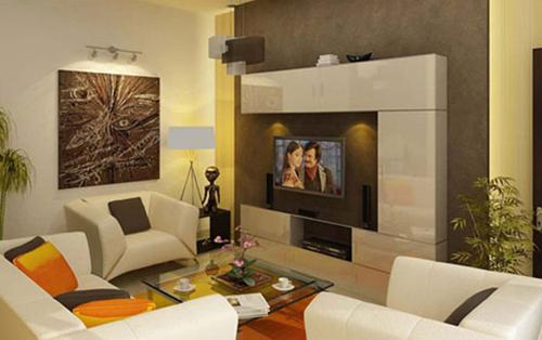 mẫu nhà đẹp với ánh sáng trong thiết kế phòng khách