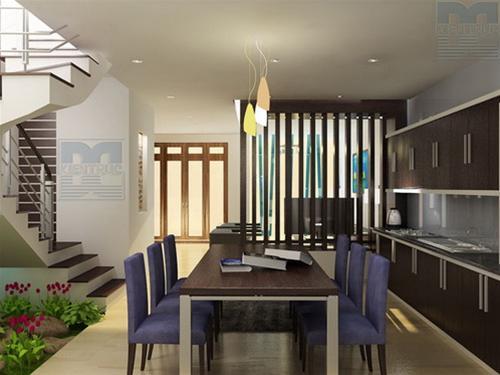 mẫu thiết kế không gian bếp sang trọng thoải mái