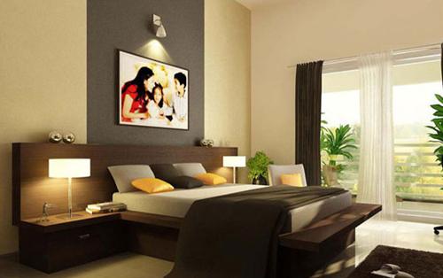 mẫu thiết kế phòng ngủ với màu sắc gỗ làm chủ đạo