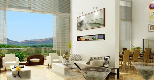 mẫu nhà đẹp với phòng khách mang phong cách hiện đại