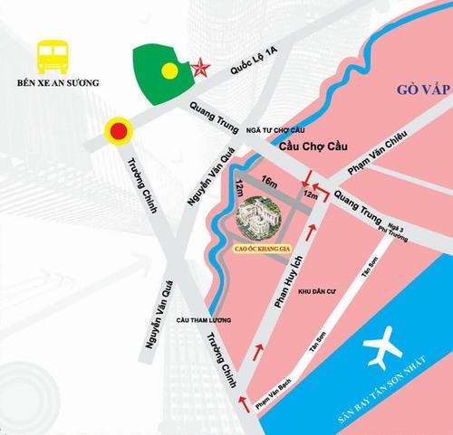 Vị trí căn hộ Khang Gia - Gò Vấp