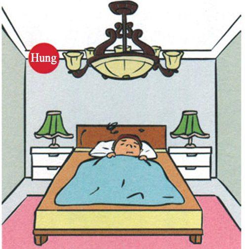 Sử dụng vật trang trí cầu kỳ trên trần nhà