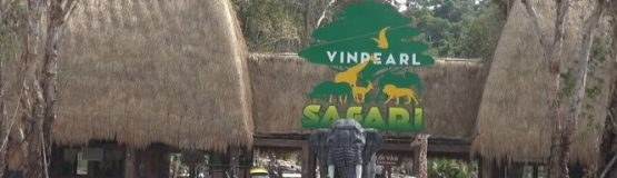 Cổng vào Khu vườn thú mở