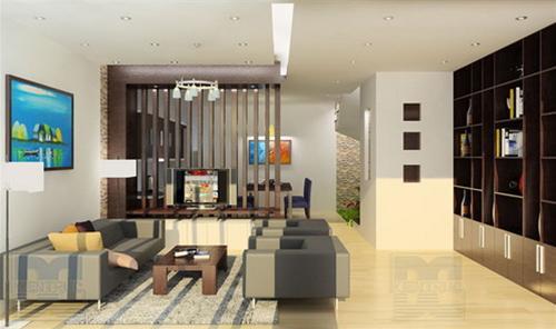 Mẫu thiết kế phòng khách không gian mở